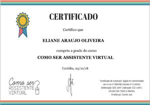 Certificado Assistente Virtual